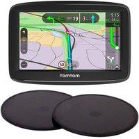 "TOMTOM VIA 52 5"" Full Europe Maps Sat Nav & Adhesive Dashboard Mount Disks Bundle"