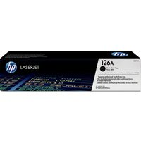 HP 126A Black Toner Cartridge, Black