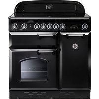 RANGEMASTER Classic 90E Electric Induction Range Cooker - Black, Black