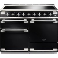 RANGEMASTER Elise 110 Electric Induction Range Cooker - Black and Chrome, Black