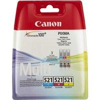 CANON CLI-521 Cyan, Magenta & Yellow Ink Cartridges - Multipack, Cyan