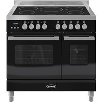 BRITANNIA Delphi 90 RC9TIDEK Electric Induction Range Cooker - Gloss Black and Stainless Steel, Stainless Steel