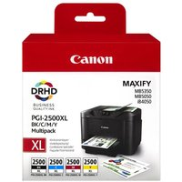CANON Canon PGI-2500XL Black, Cyan, Magenta & Yellow Ink Cartridges - Multipack, Black