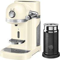 NESPRESSO Artisan Nespresso Hot Drinks Machine with Aeroccino 3 - Almond Cream, Cream