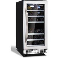 HUSKY HUS-ZY4-D-SS-26 Wine Cooler - Black & Silver, Black