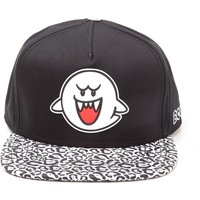 MARIO Boo Rubber Patch Snapback Cap - Black & White, Black
