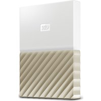 Wd My Passport Ultra Portable Hard Drive - 1 Tb, White & Gold, White