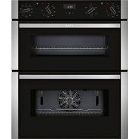 NEFF J1ACE2HN0B Electric Built-under Double Oven - Stainless Steel, Stainless Steel