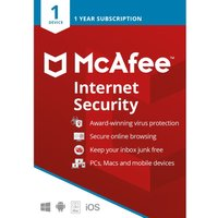 MCAFEE Internet Security 2019 - 1 year for 1 device