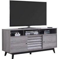 DOREL HOME Vaughn 1823196COMUK 1499 mm TV Stand - Grey Oak, Grey