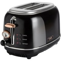 TOWER Bottega T20016 2-Slice Toaster - Black, Black.