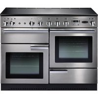 Rangemaster Professional+ 110 Electric Induction Range Cooker - Stainless Steel and Chrome, Stainless Steel