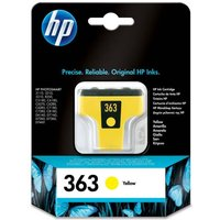 HP 363 Yellow Ink Cartridge, Yellow