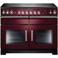 RANGEMASTER Excel 110 Electric Ceramic Range Cooker - Cranberry & Chrome, Cranberry
