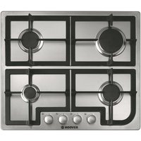 HOOVER HGH64SCX Gas Hob - Stainless Steel, Stainless Steel