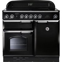 RANGEMASTER Classic 100 Electric Induction Range Cooker - Black & Chrome, Black
