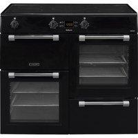 LEISURE Cookmaster CK100D210K Electric Induction Range Cooker - Black & Chrome, Black
