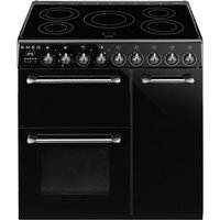 SMEG Blenheim BM93IBL 90 cm Electric Induction Range Cooker - Black, Black
