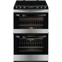 ZANUSSI ZCV48300XA 55 cm Electric Ceramic Cooker - Stainless Steel & Black, Stainless Steel