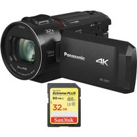 PANASONIC HC-VX1EB-K 4K Ultra HD Camcorder & 32 GB SDHC Memory Card Bundle