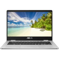 """Asus C423NA Touch 14"""" Intel Celeron Chromebook - 32 GB eMMC, Silver, Silver"""