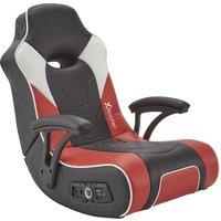 X ROCKER G-Force 2.1 Floor Rocker Gaming Chair - Black, Red & White, Black.