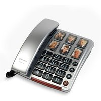 AMPLICOMMS BigTel 40 Plus Corded Phone - Silver, Silver