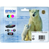 EPSON Polar Bear T2616 Cyan, Magenta, Yellow & Black Ink Cartridges - Multipack, Cyan
