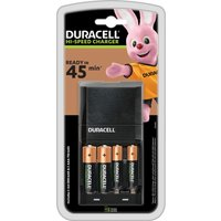 DURACELL CEF27 4-Battery Charger with Batteries.