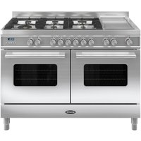 BRITANNIA Delphi 120 RC12TGDES Dual Fuel Range Cooker - Stainless Steel, Stainless Steel