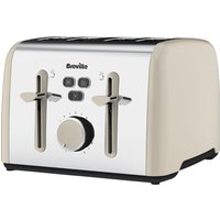 BREVILLE Colour Notes VTT629 4-Slice Toaster - Cream, Cream