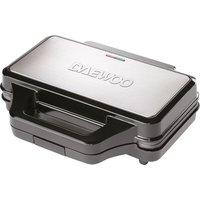 DAEWOO SDA1389 4-Slice Sandwich Maker - Black & Silver, Black