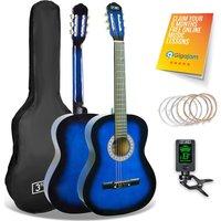 3RD AVENUE STX20CBBPK Junior Classical Guitar Pack - Blue, Blue