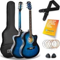 3RD AVENUE STX10ECABBPK Electro-Acoustic Guitar Pack - Blueburst