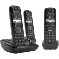 GIGASET AS690A Cordless Phone - Triple Handsets.