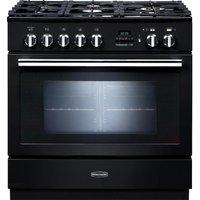 Rangemaster Professional+ FXP 90 Dual Fuel Range Cooker - Black, Black