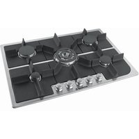 HOOVER HGH75SQDX Gas Hob - Stainless Steel, Stainless Steel