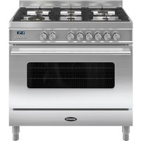 BRITANNIA Delphi 90 RC9SGDES Dual Fuel Range Cooker - Stainless Steel, Stainless Steel