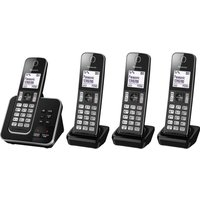 PANASONIC KX-TGD324EB Cordless Phone with Answering Machine - Quad Handsets