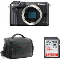 CANON CANON EOS M6 Mirrorless Camera Body with Accessory Bundle