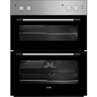 LOGIK LBUDOX18 Electric Built-under Double Oven - Silver, Silver