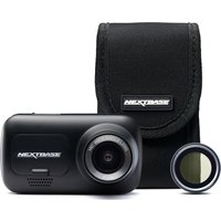 NEXTBASE 222 Full HD Dash Cam, Case & Polarising Filter Bundle - Black, Black