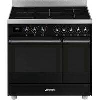 SMEG C92IPBL9-1 90 cm Electric Induction Range Cooker - Black, Black
