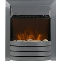 ZANUSSI ZEFIST1001S Wall Mounted Electric Fireplace - Stainless Steel, Stainless Steel