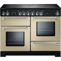 RANGEMASTER Kitchener 110 Electric Ceramic Range Cooker - Cream & Chrome, Cream
