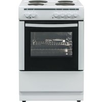 ESSENTIALS CFSE60W17 60 cm Electric Cooker - White, White