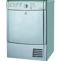 INDESIT EcoTime IDCL85BHS Condenser Tumble Dryer - Silver, Silver