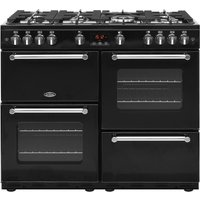 BELLING Kensington 100G Gas Range Cooker - Black and Chrome, Black