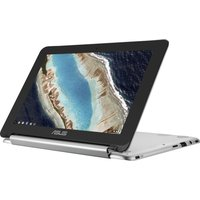 ASUS C101 10.1 2 in 1 Chromebook - Silver, Silver