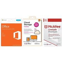 MICROSOFT Office Home & Student, 2 TB Cloud Storage & LiveSafe Premium Bundle